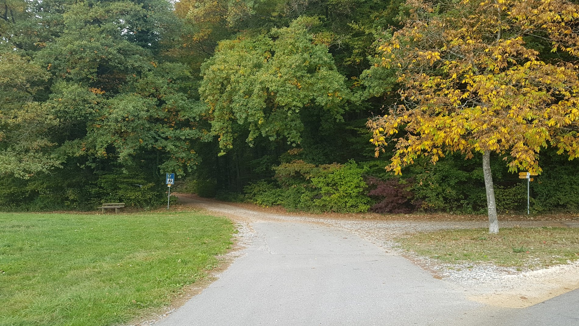 Grill- und Wanderparkplatz Richtung Homburg