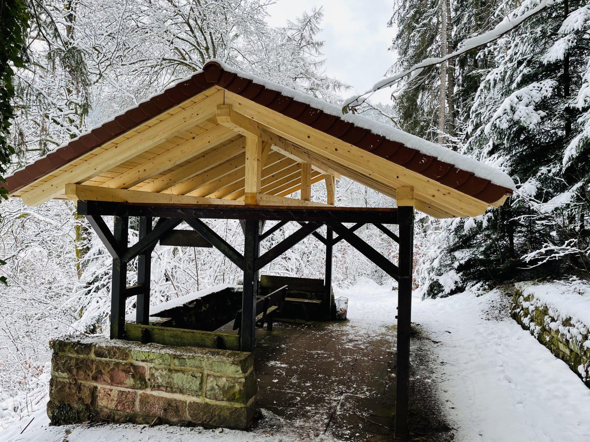 Scheffelhütte Bad Teinach im Winter