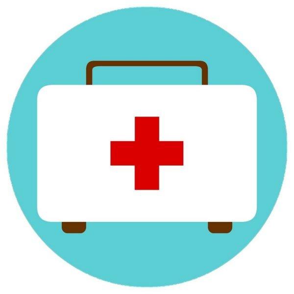Motiv Koffer mit rotem Kreuz