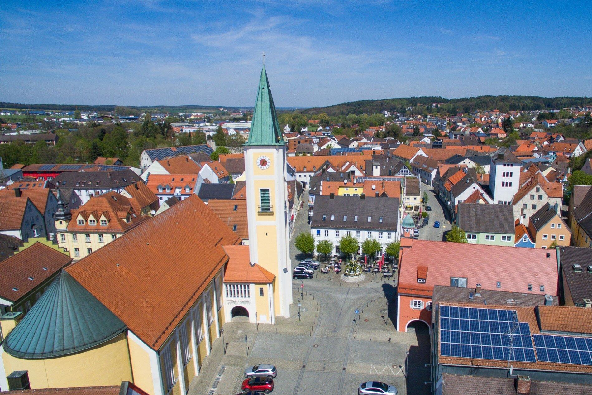 Marktplatz von Mainburg