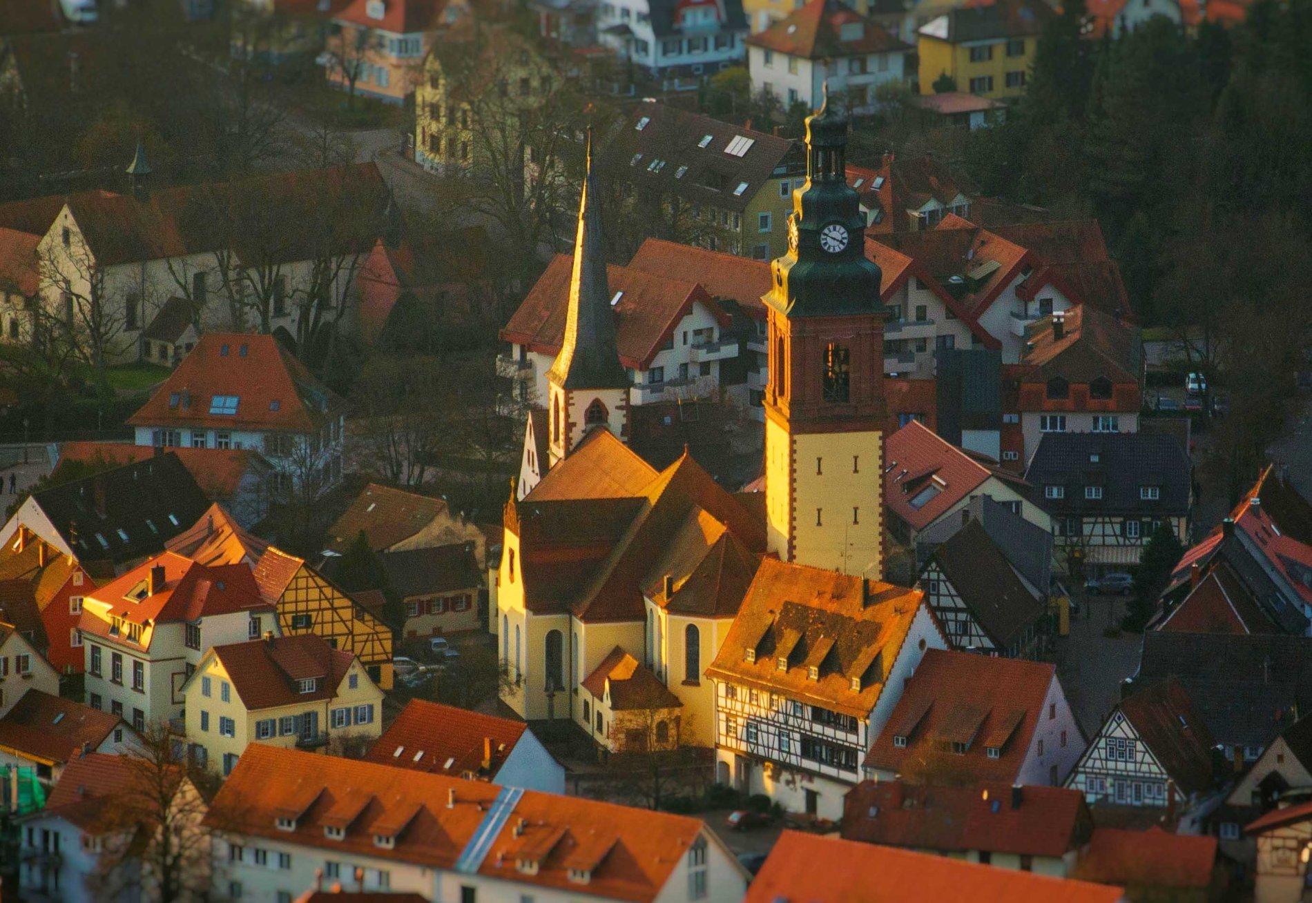 Deckengemälde in der Kath. Kirche St. Arbogast