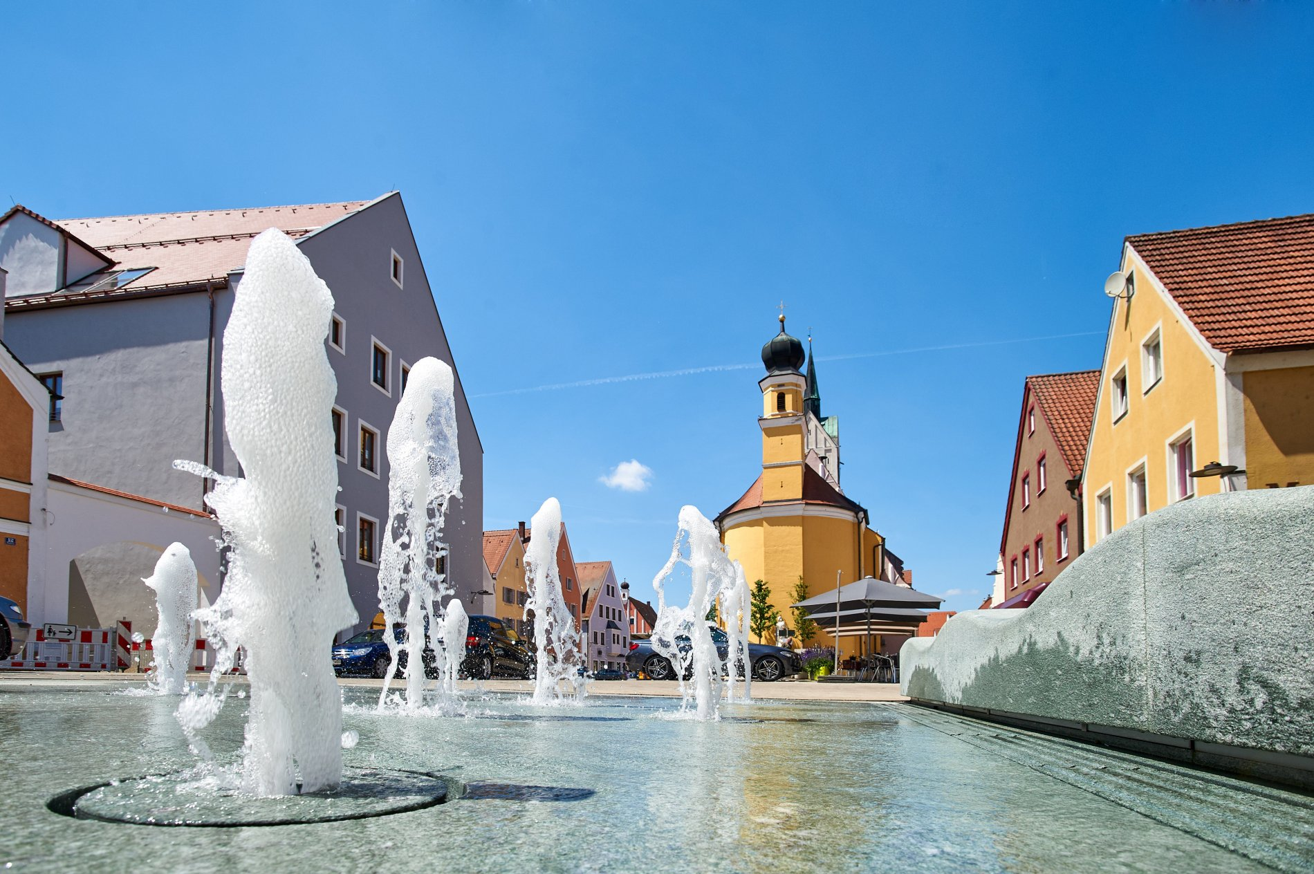 Stadtplatz Neustadt an der Donau - Perfekt für eine gemütliche Einkehr.
