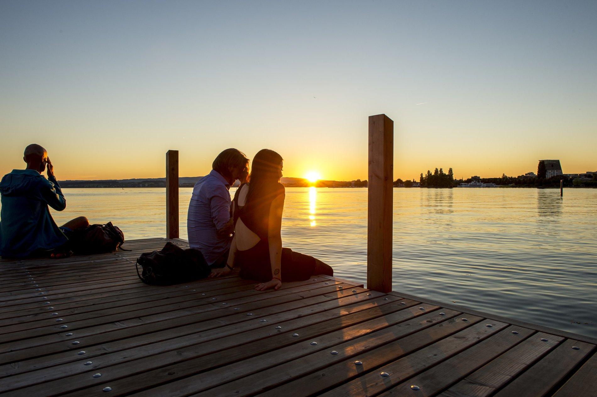 Sonnenuntergang Seepromenade