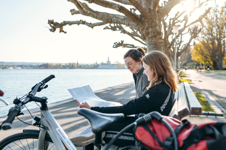 Sonnenuntergang mit Fahrrad