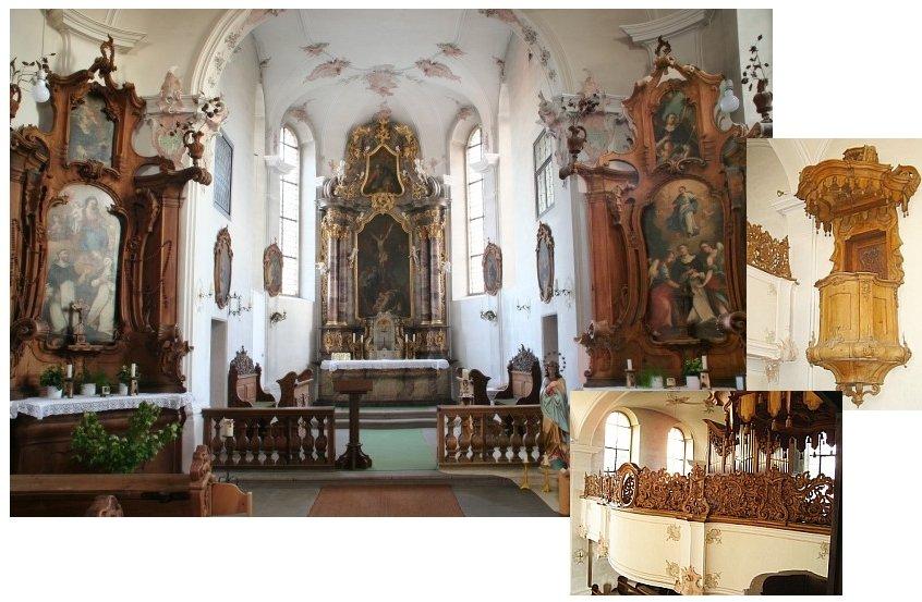 Klosterkirche zum Heiligen Kreuz Rangendingen Innenraum