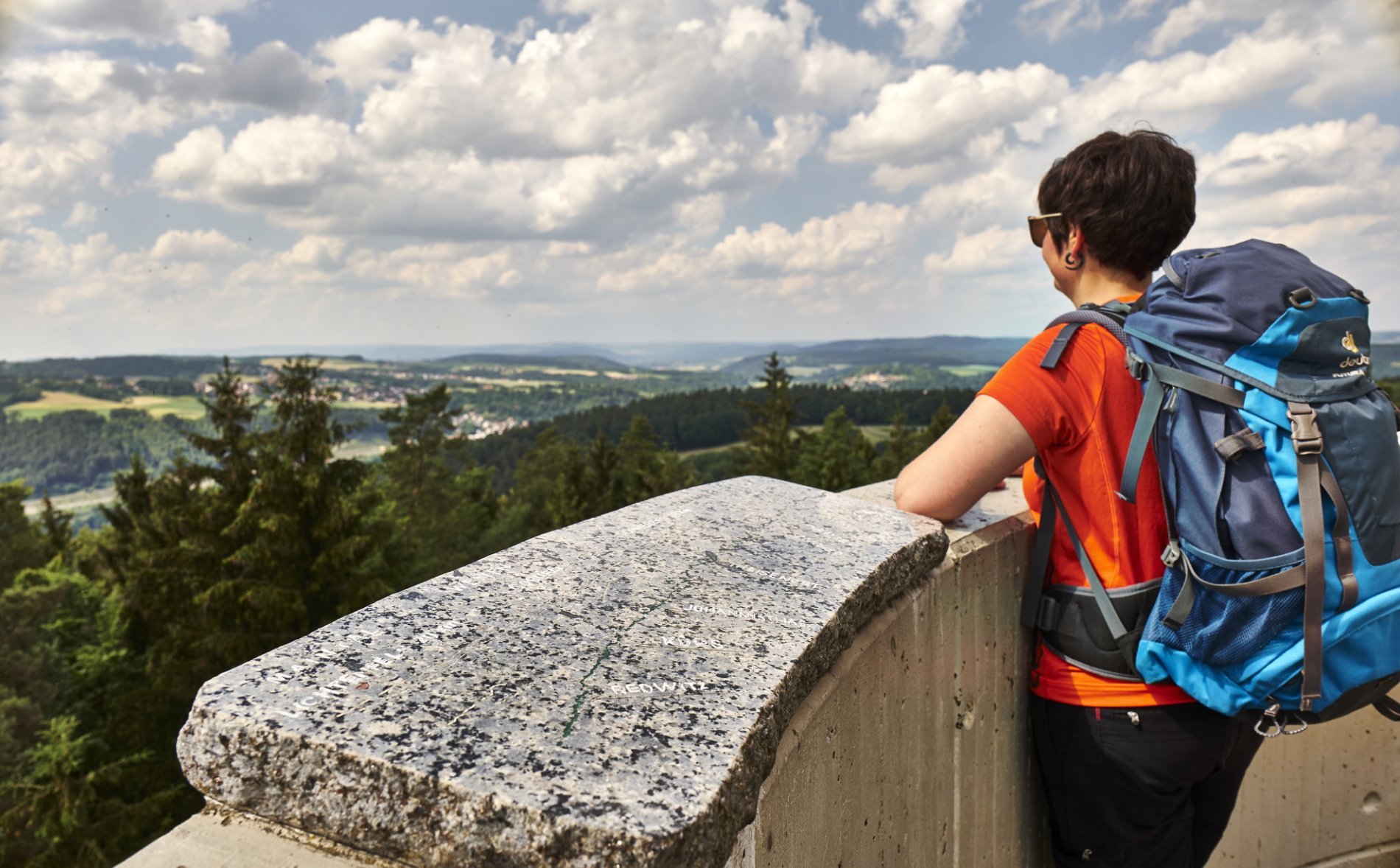 Blick vom Lucas Cranach Turm über den Frankenwald