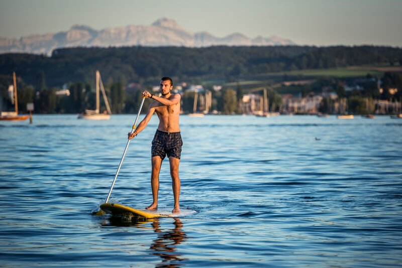 Stand-Up-Paddling auf dem Bodensee