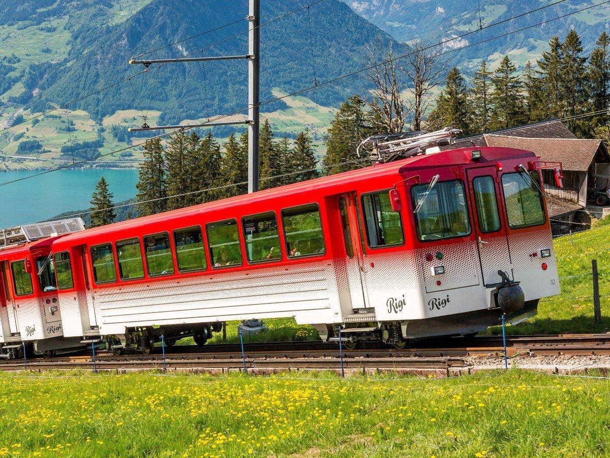 VRB Strecke Vitznau nach Rigi Kulm