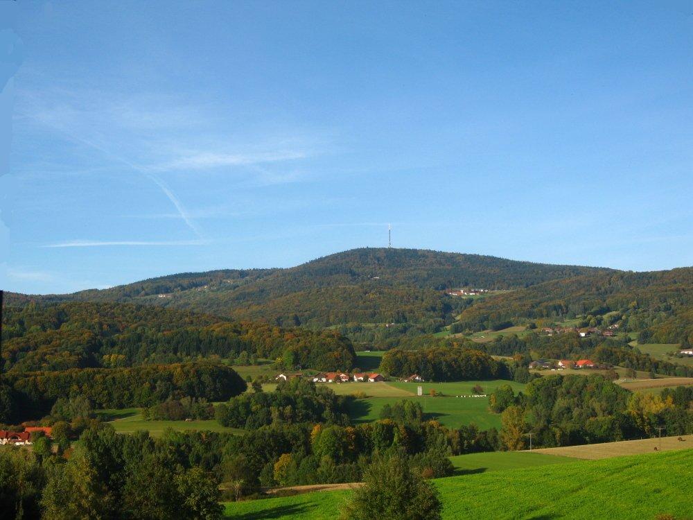 Blick zum Brotjacklriegel in der Region Sonnenwald im Bayerischen Wald