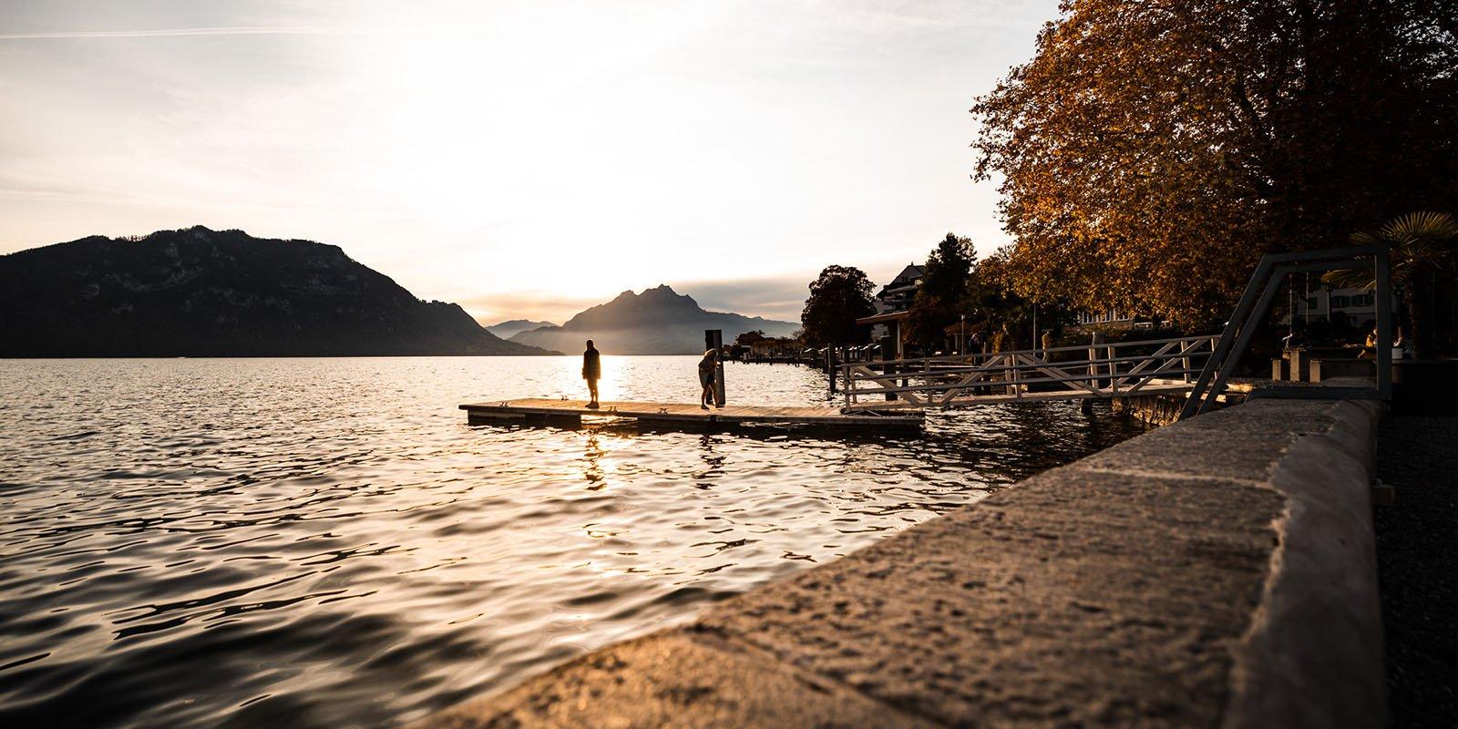Weggis am See
