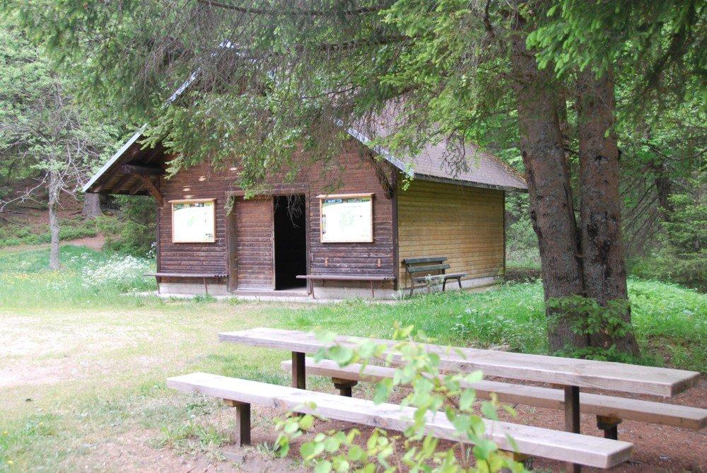 Horbacher-Moor-Hütte mit Grillplatz