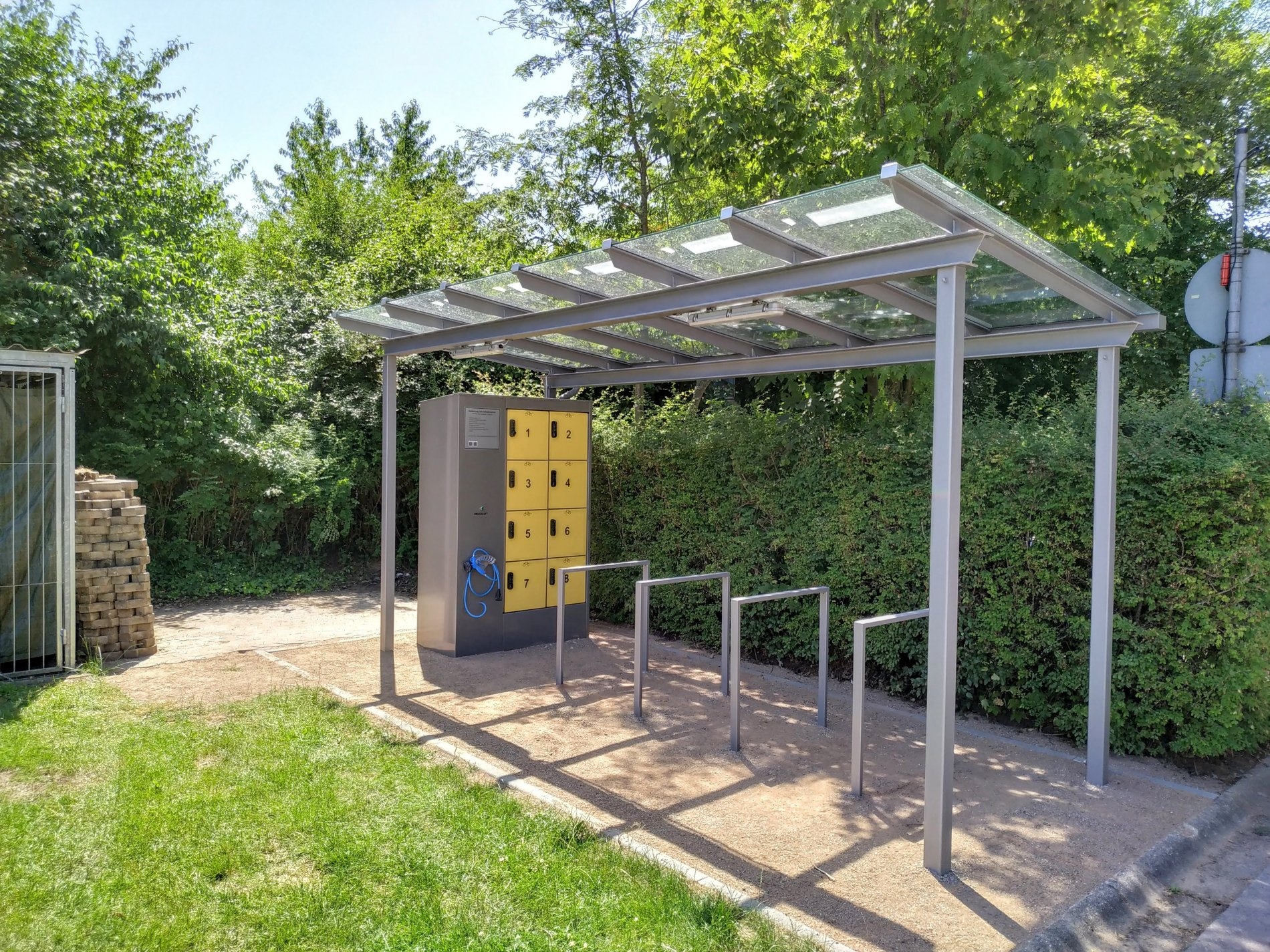 E-Bike Ladestation am Caravanplatz Kirkel