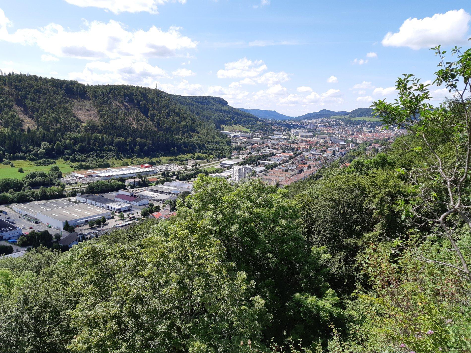 Blick vom Galgenfels auf Albstadt-Ebingen