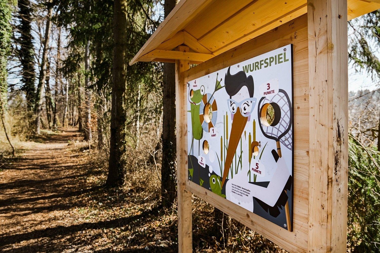 Naturerlebnisweg Steeger See mit über 30 Stationen zum Thema Flora und Fauna