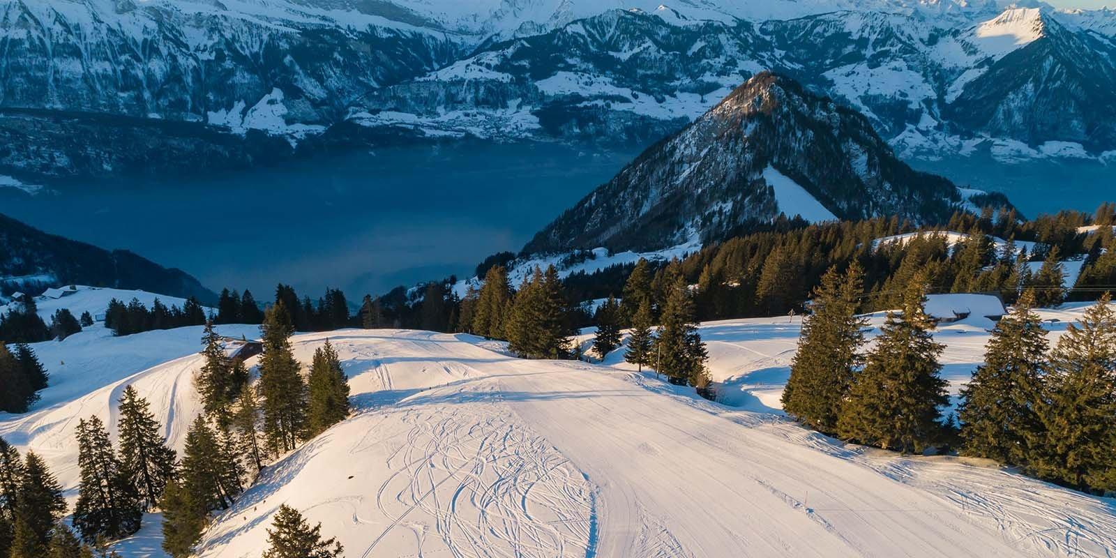 Klein aber oho - Das Skigebiet auf Rigi Scheidegg/Burggeist