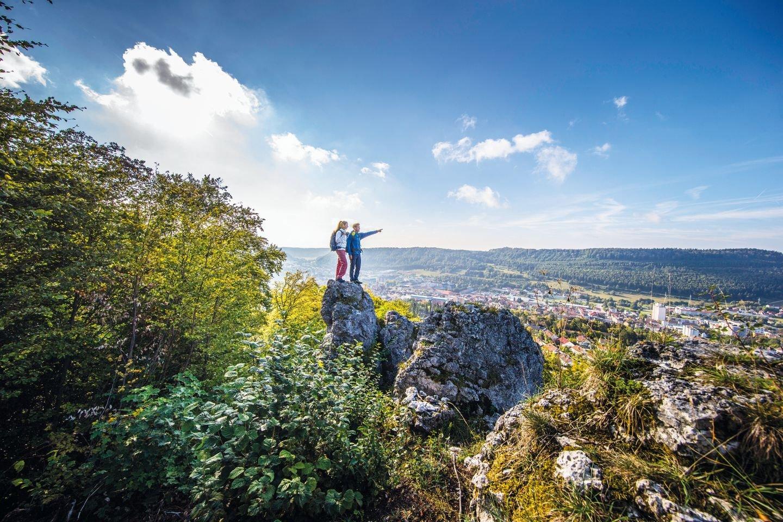Hoch droben auf dem Schnecklesfelsen - Traufgang Ochsenbergtour