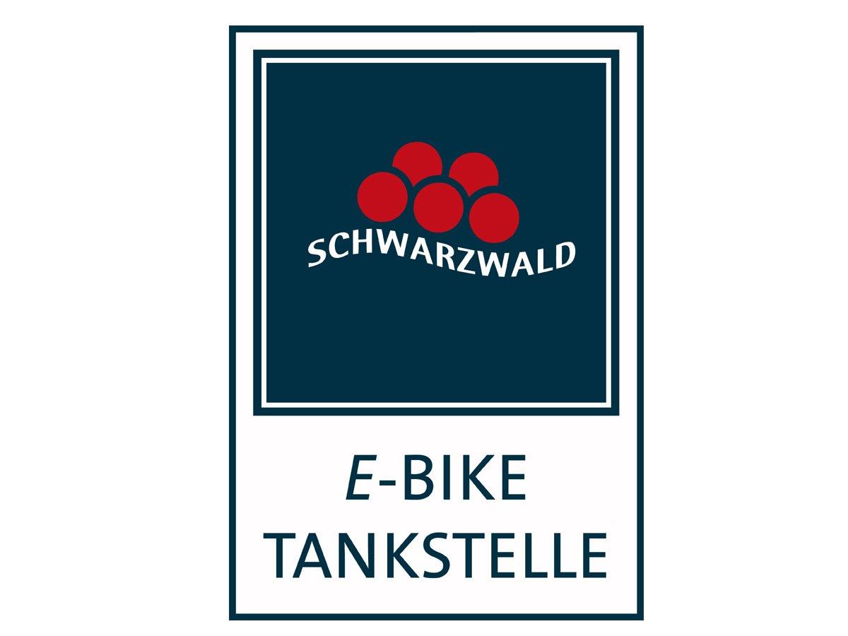 E-Bike Tankstellenschild