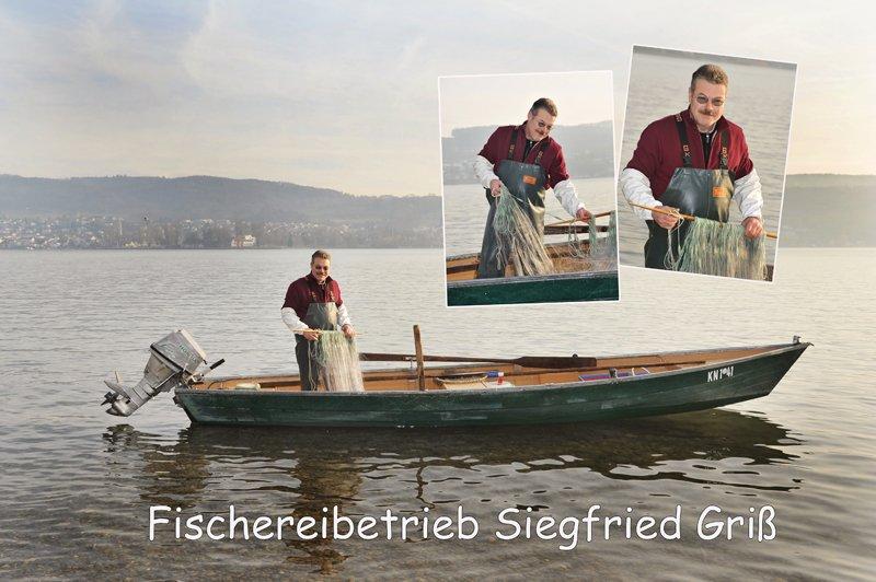 Siegfried Griß beim Fischen