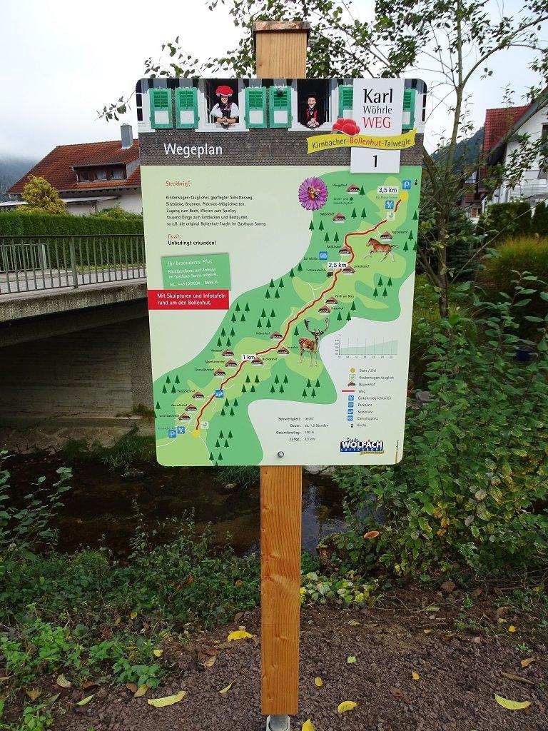 Kirnbacher Bollenhut Talwegle - Tafel 1