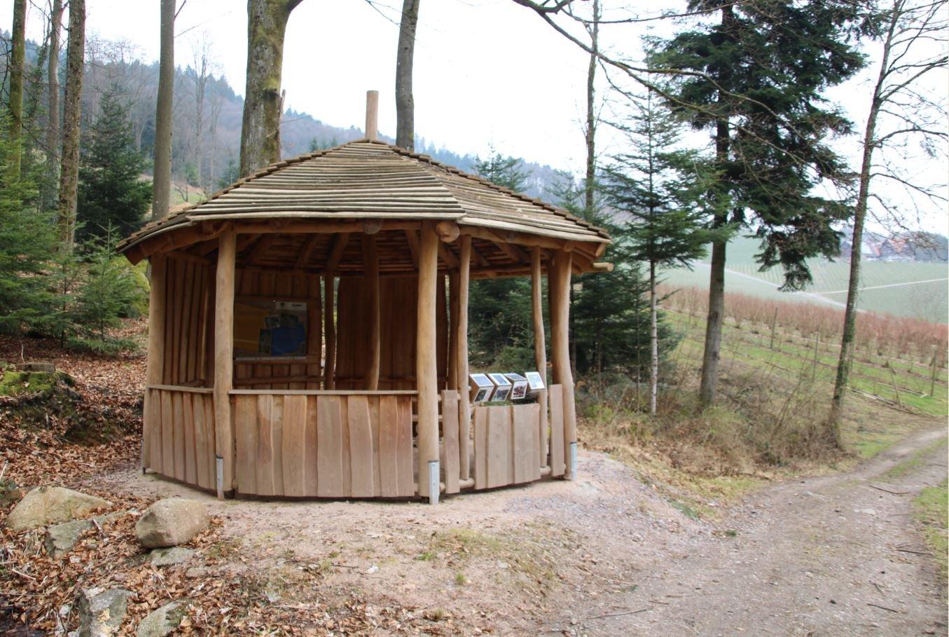 Pavillon beim Erlebnsibereich Stein