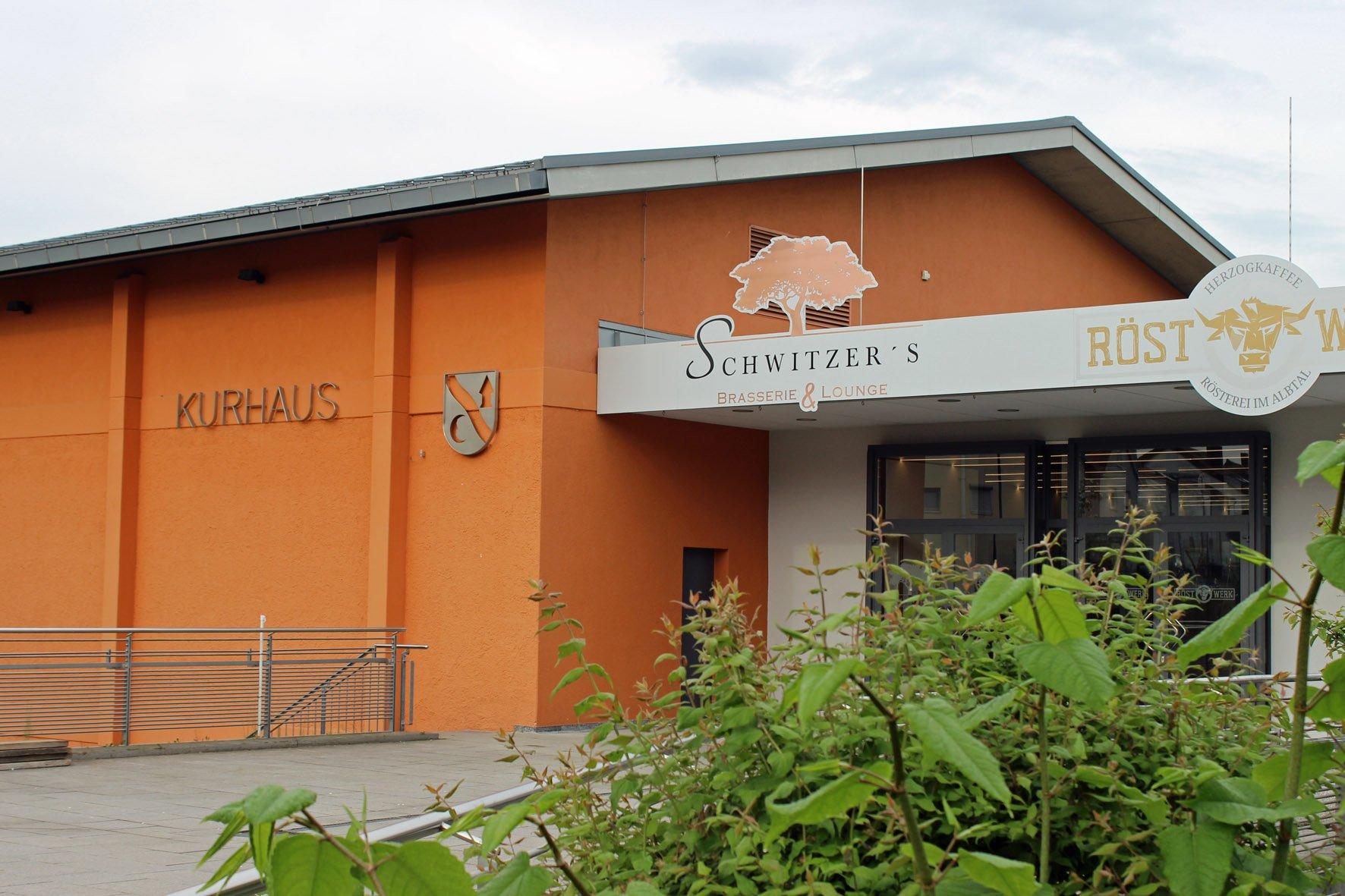 Terrasse Kurhaus Waldbronn und Schwitzer´s Brasserie