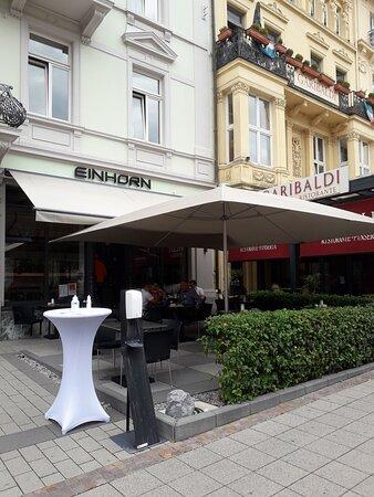 entrance to the Einhorn Café