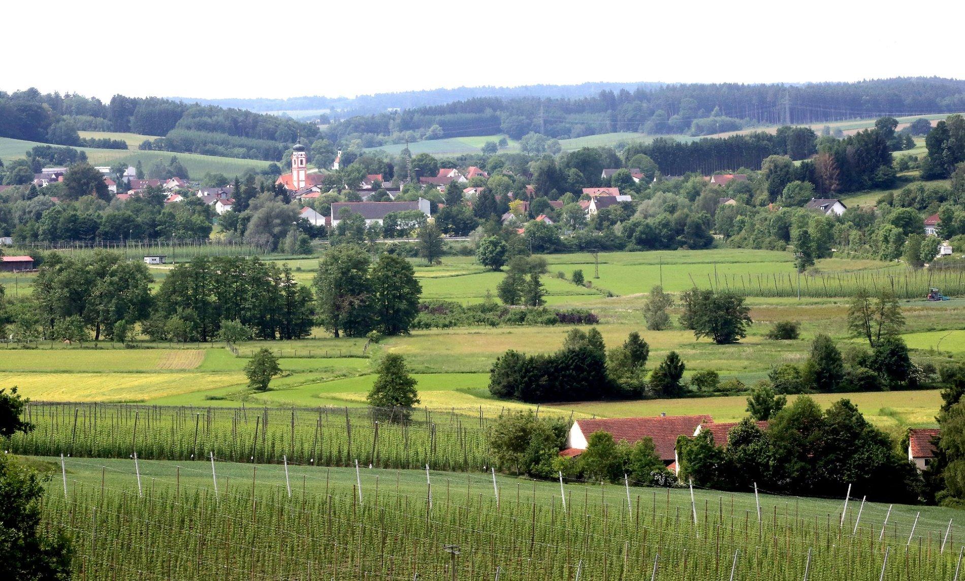 Aussicht auf Rudelzhausen
