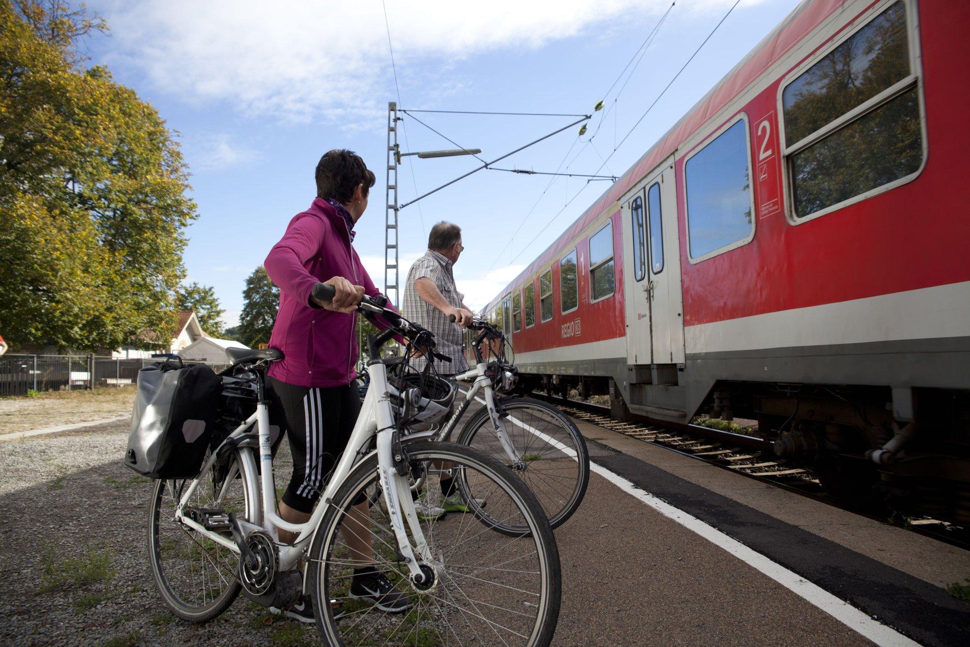 Fahrradmitnahme in den Zügen