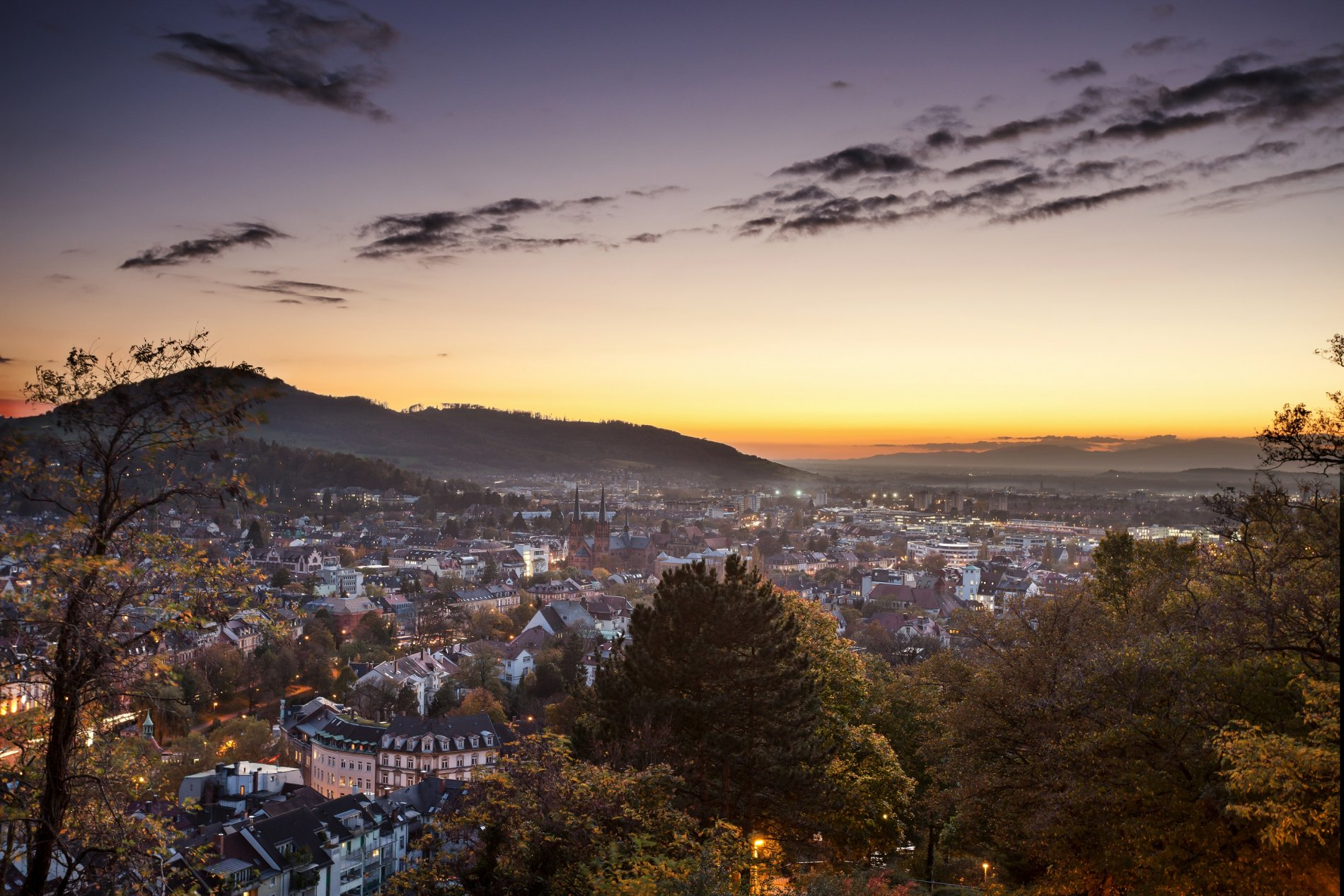 Freiburg Blick vom Schlossberg