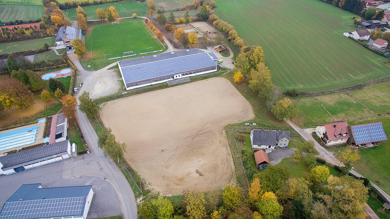 Luftbild von dem Hallertauer RuF Verein