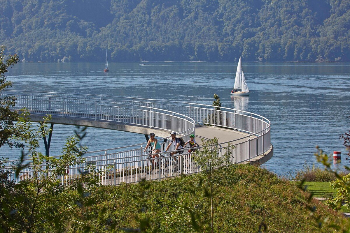 stilt houses over the lake in Unteruhldingen