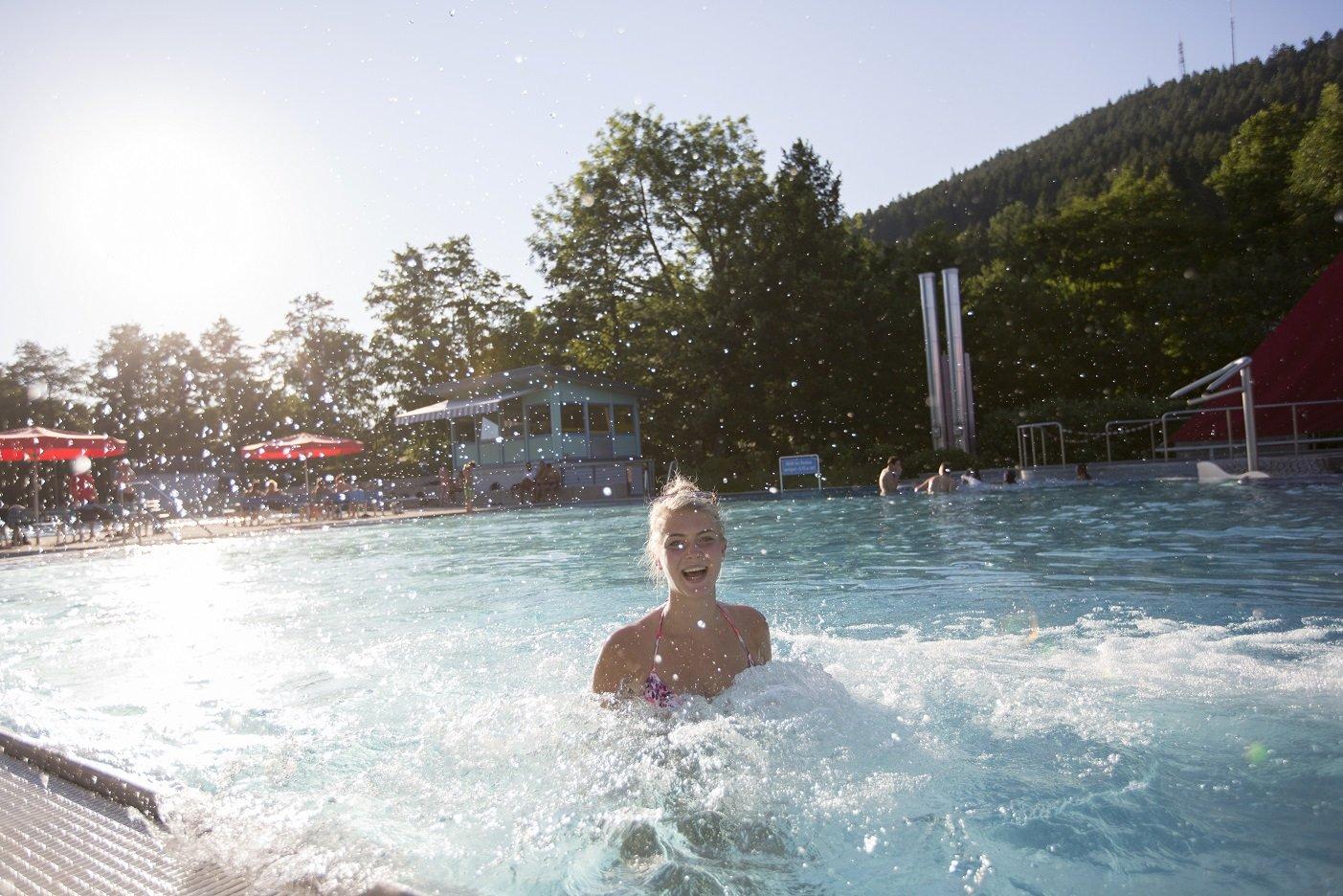 Erlebnisbecken des Freibads Baiersbronn