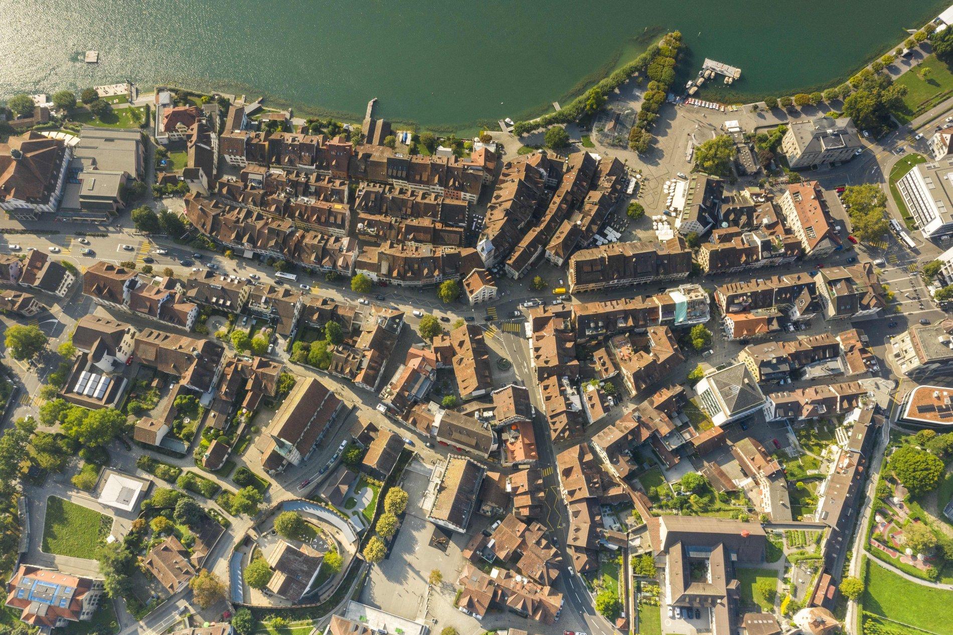 Zuger Altstadt von oben