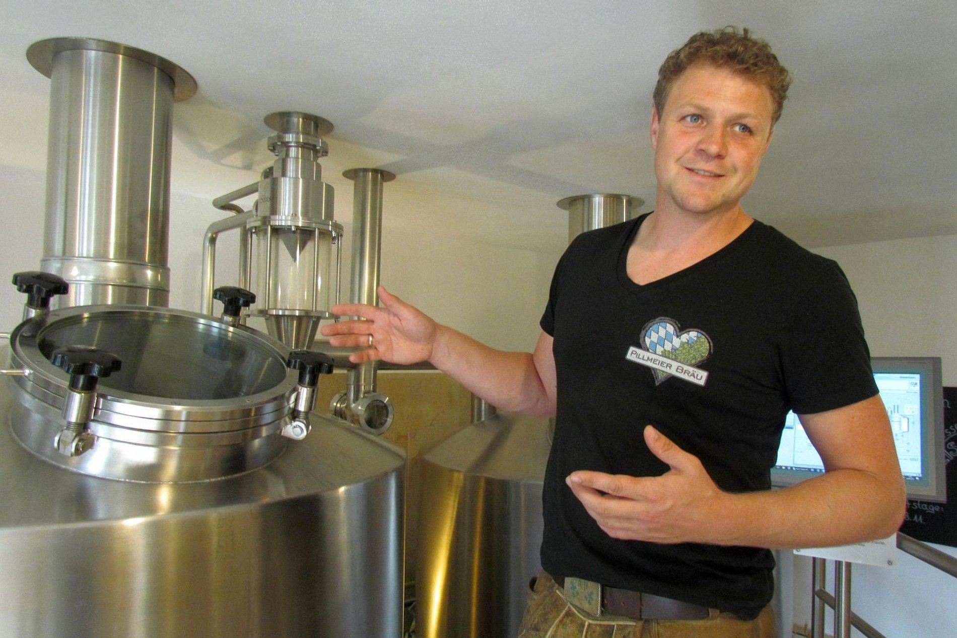 Braumeister vom Pillmeier Bräu in Langquaid