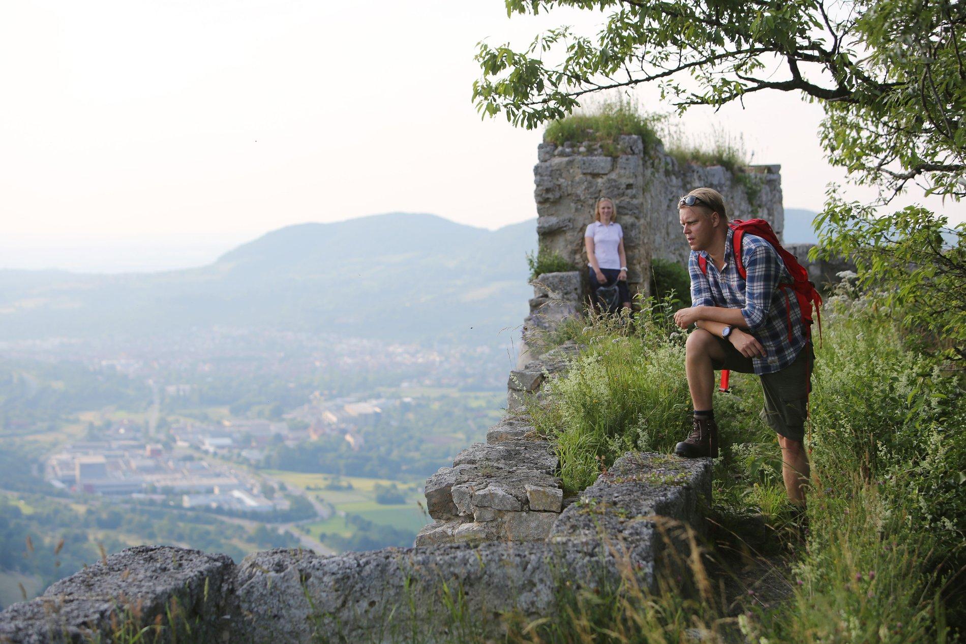 Ausblick von der Burgruine Hohenurach