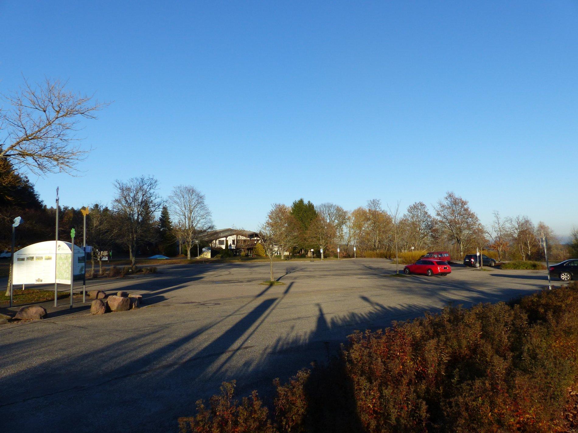 Höhenparkplatz Schömberg Richtung Tennishalle
