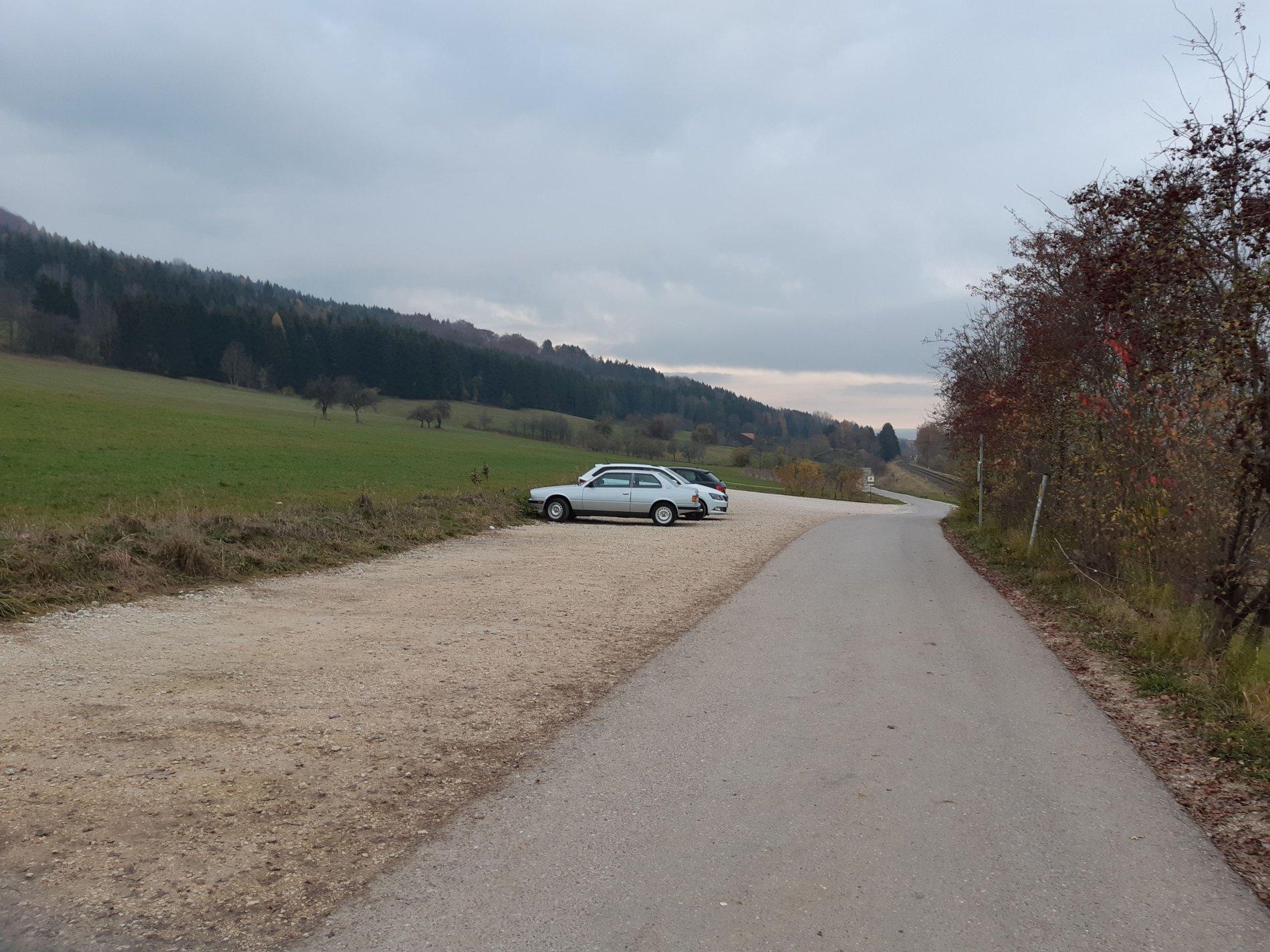 Parkplatz Brunnental bei Albstadt-Laufen