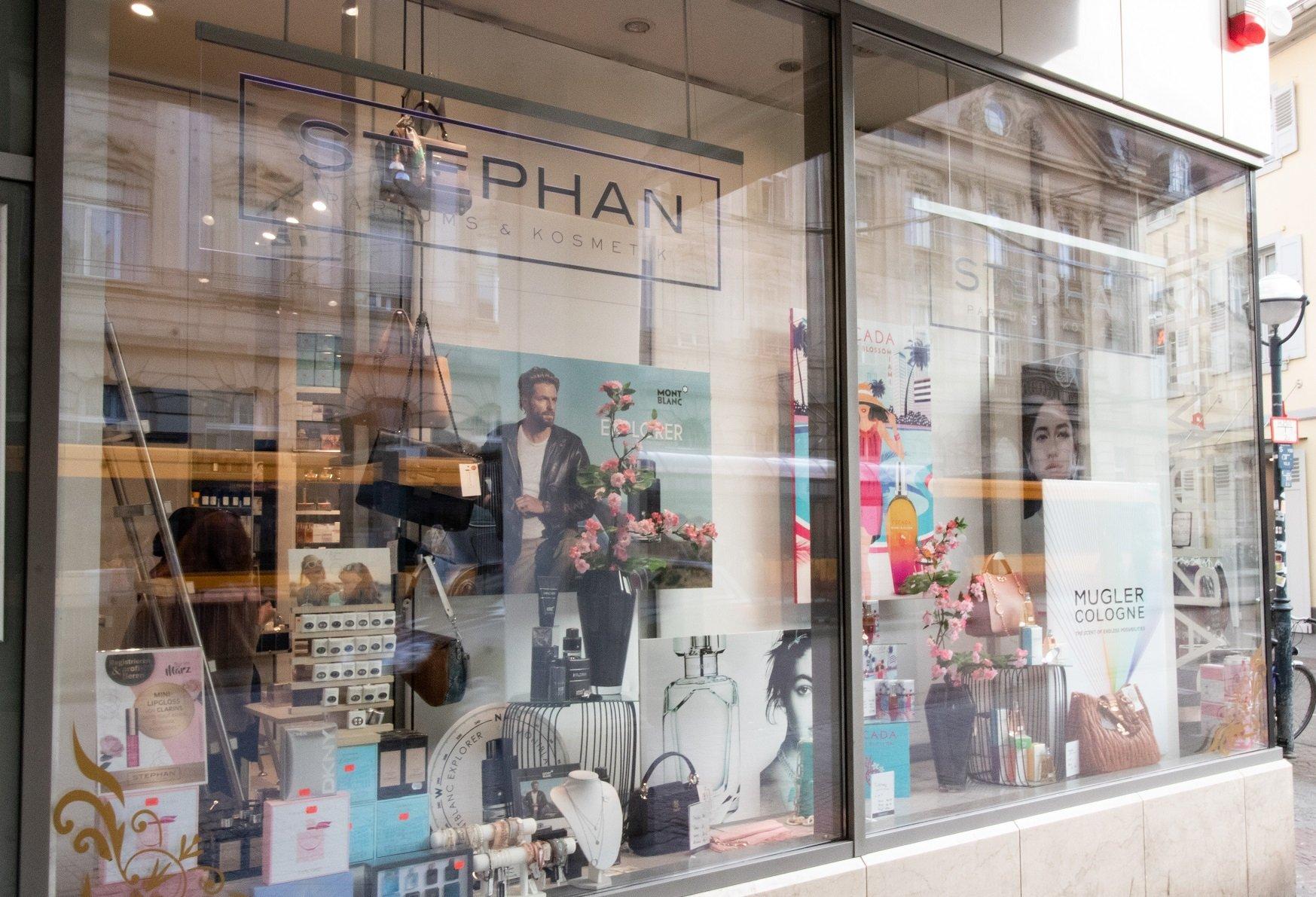 STEPHAN Parfum & Kosmetik Filiale Karlsruher Innenstadt Außenansicht