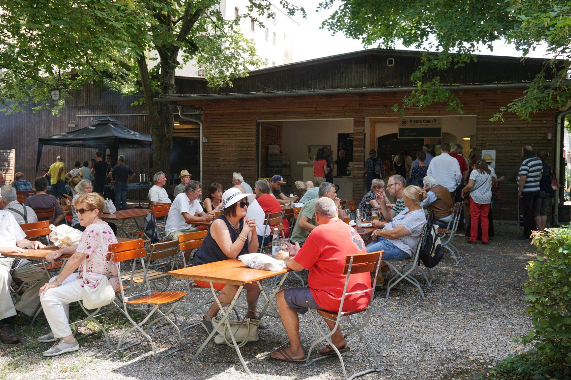 Biergarten im Riedenburger Brauhaus