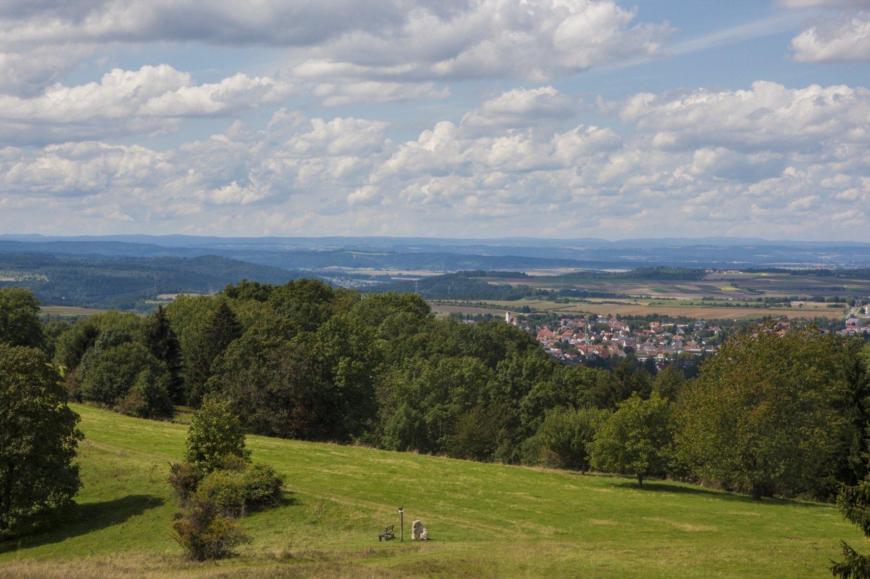 Blick vom Aussichtspunkt Ebersberg