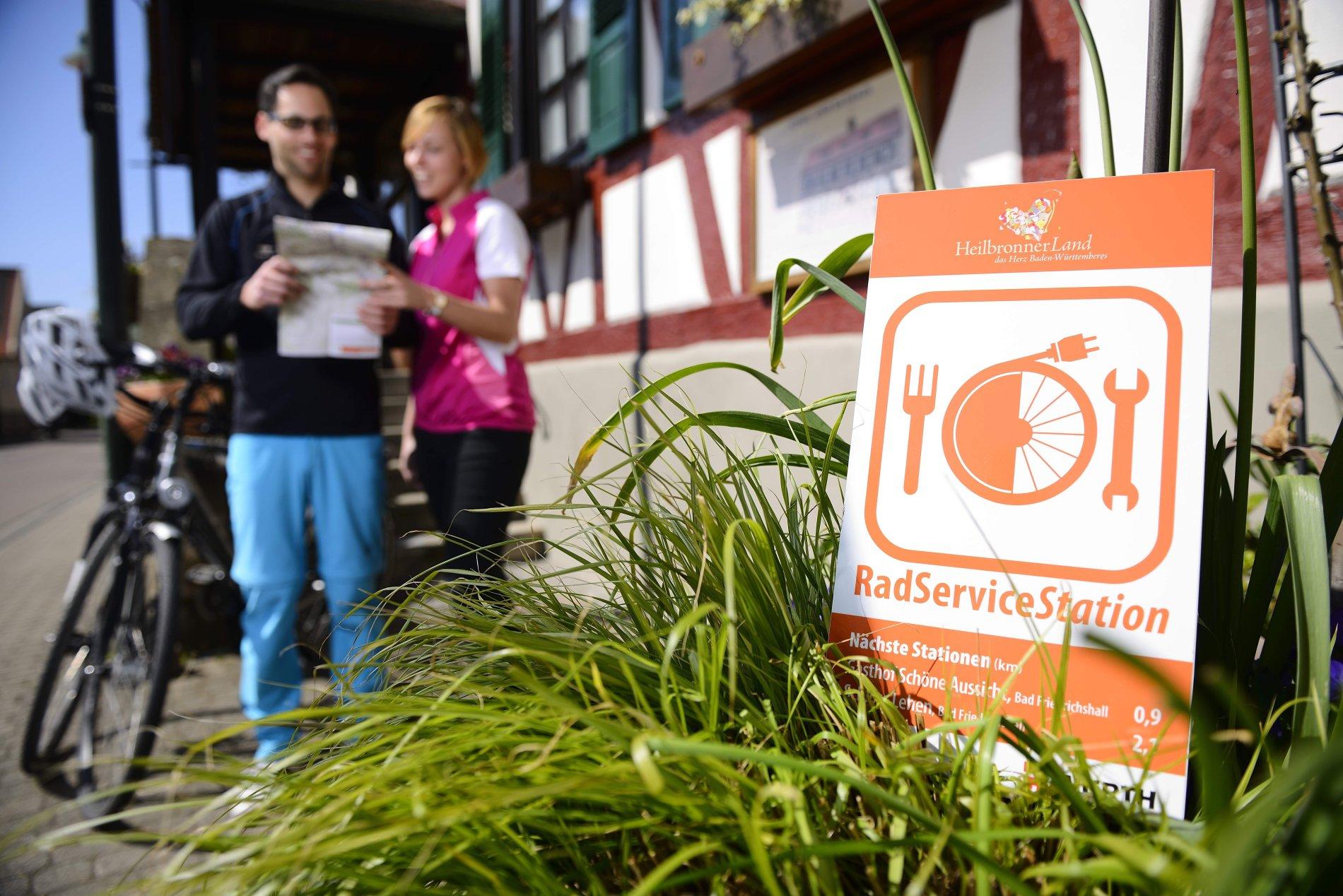 RadServiceStationen HeilbronnerLand   Einkehrtipp für Radfahrer