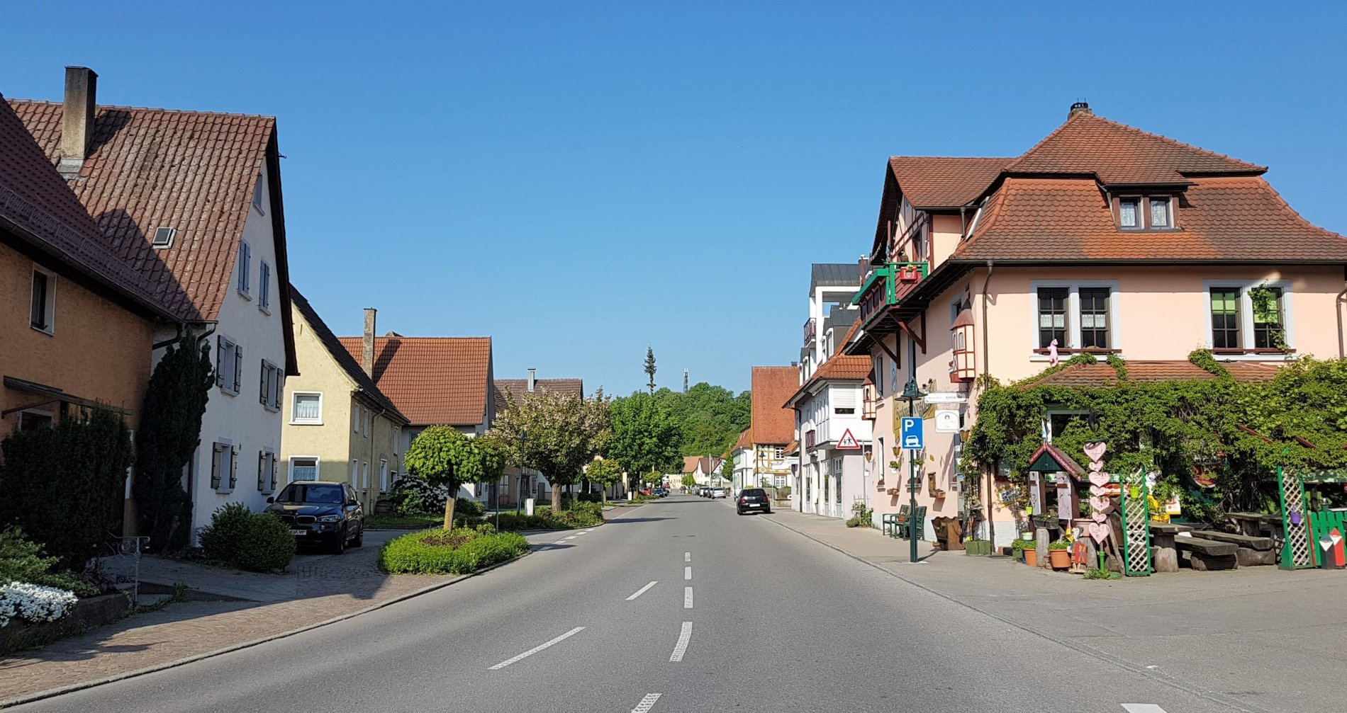 Blick in die Kastellstraße