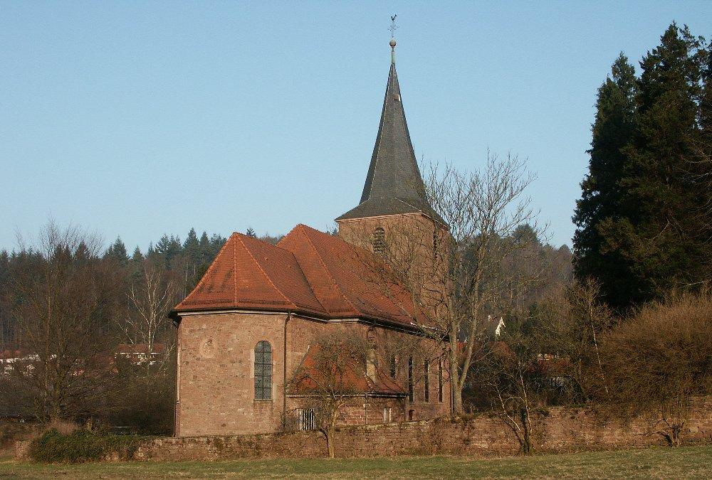 Die Kirche St. Markus Marxzell von außen.