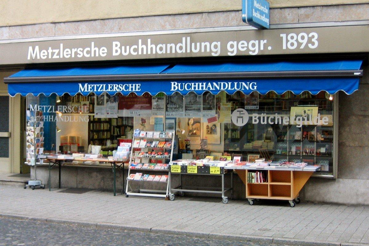 Metzlersche Buchhandlung in der Karlstraße 13