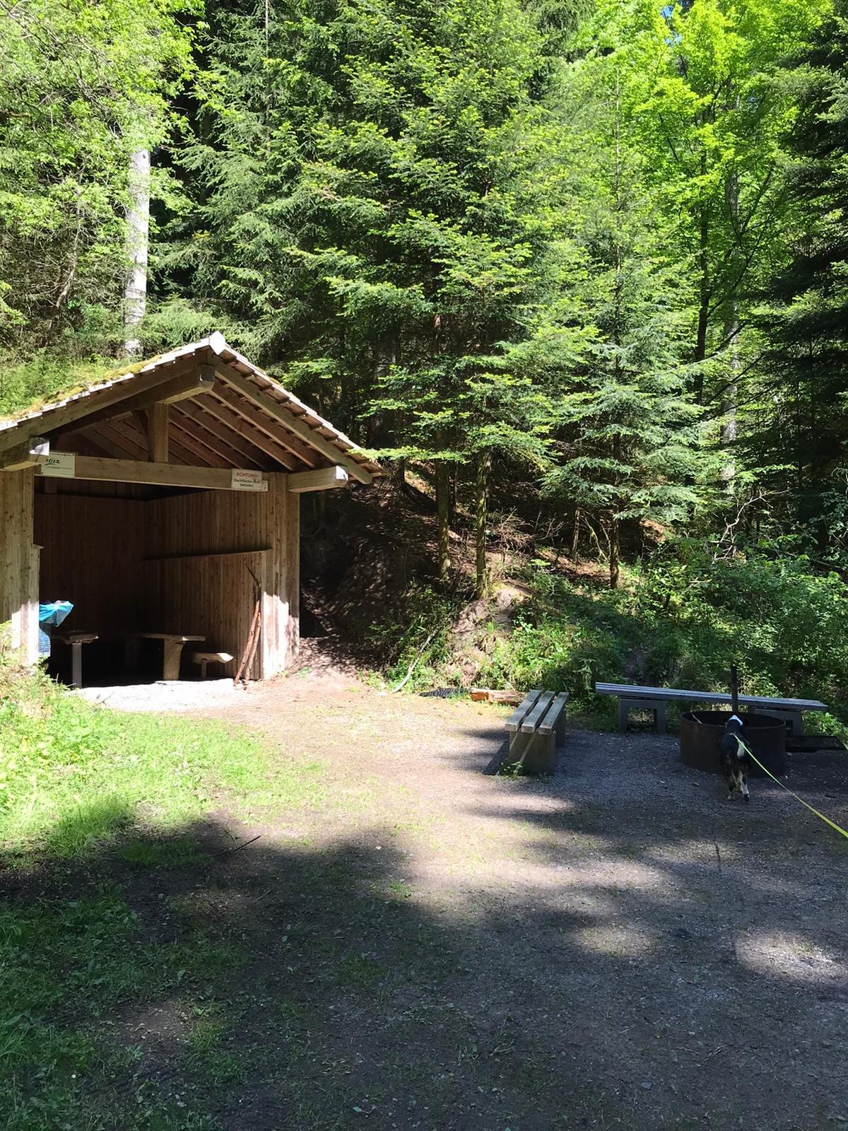 Schutzhütte am Mildersbachtal-Rundweg mit Grillstelle