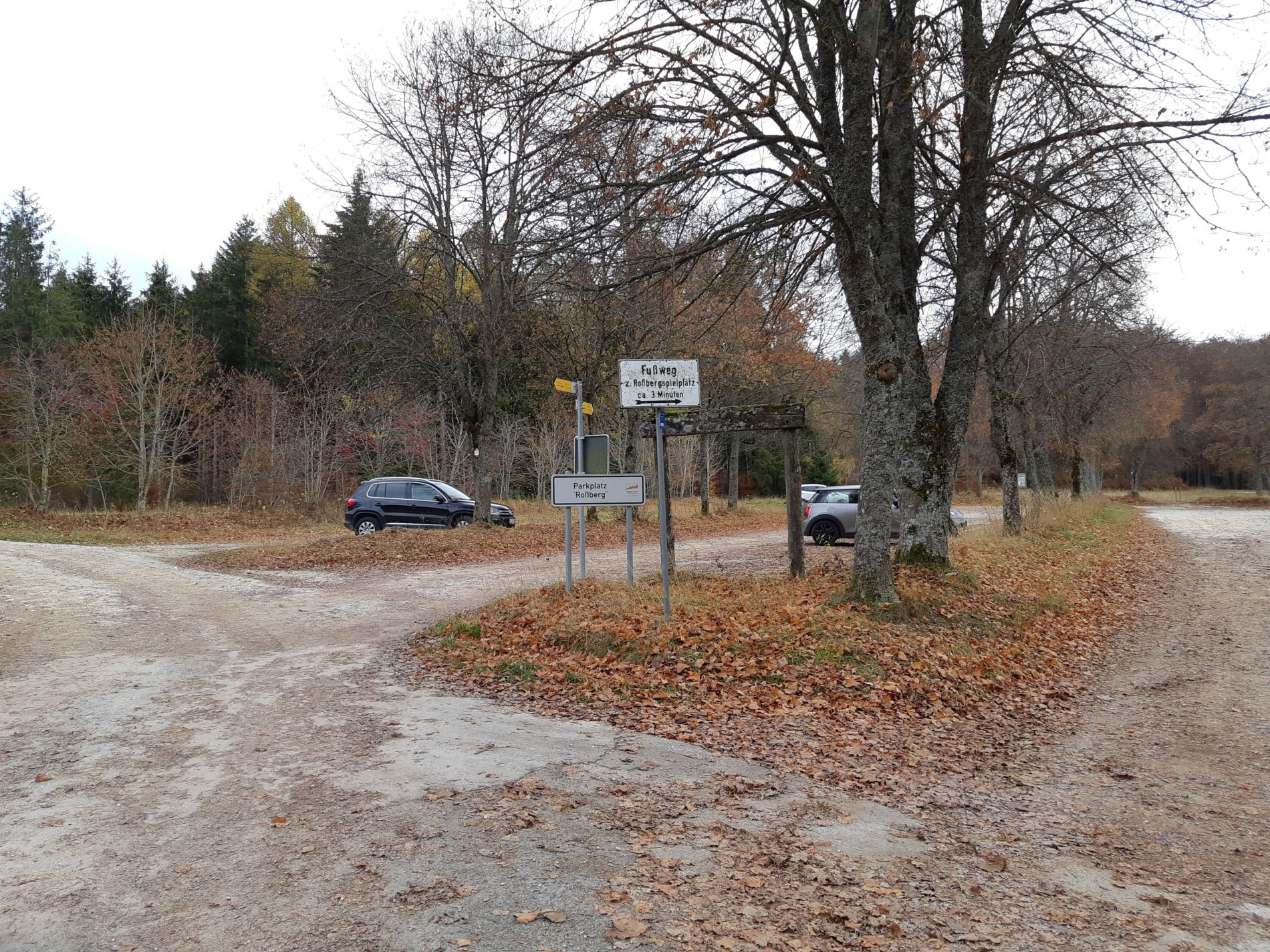 Parkplatz Rossberg in Albstadt-Ebingen - Traufgang Schlossfelsenpfad