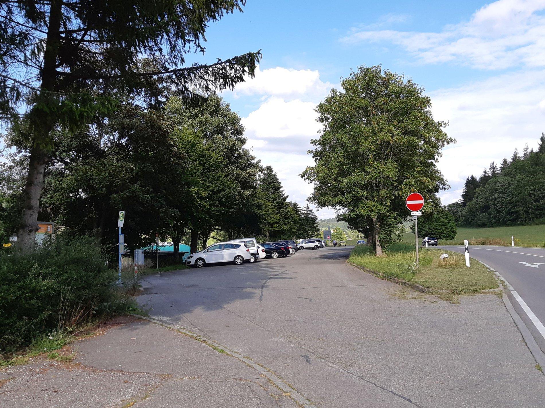 Parkplatz Stich am Traufgang Zollernburg-Panorama