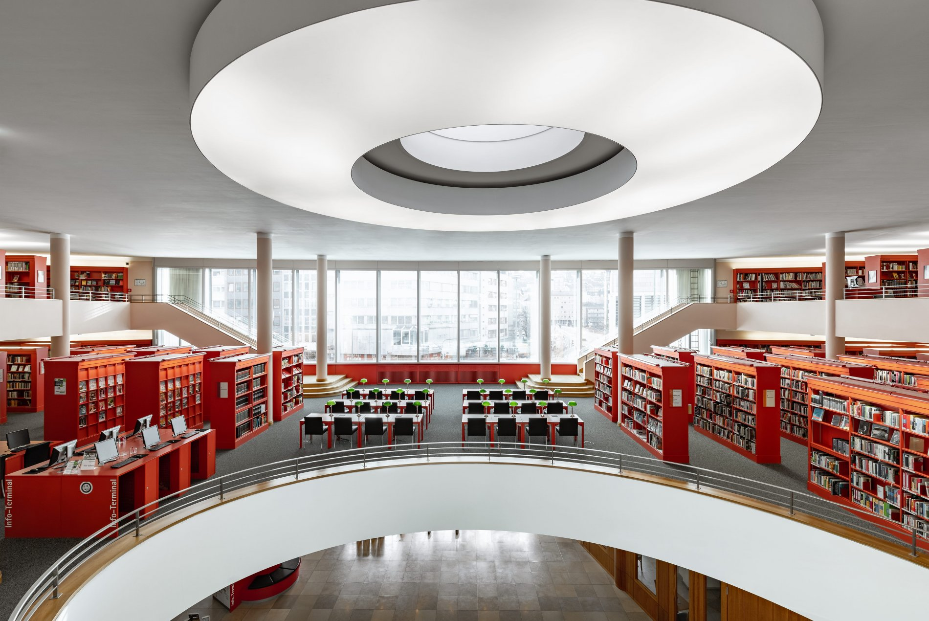 Insight into the premises of the Pforzheim City Library.