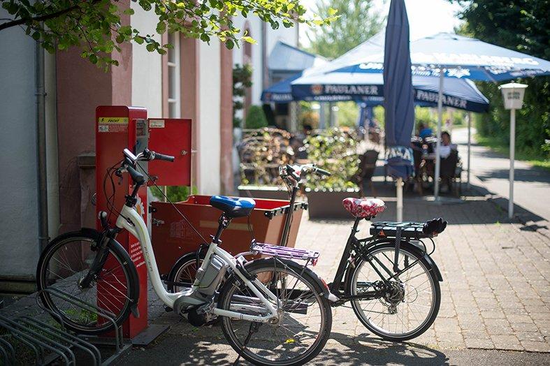 E-Bike-Ladestation Historischer Bahnhof Gersheim
