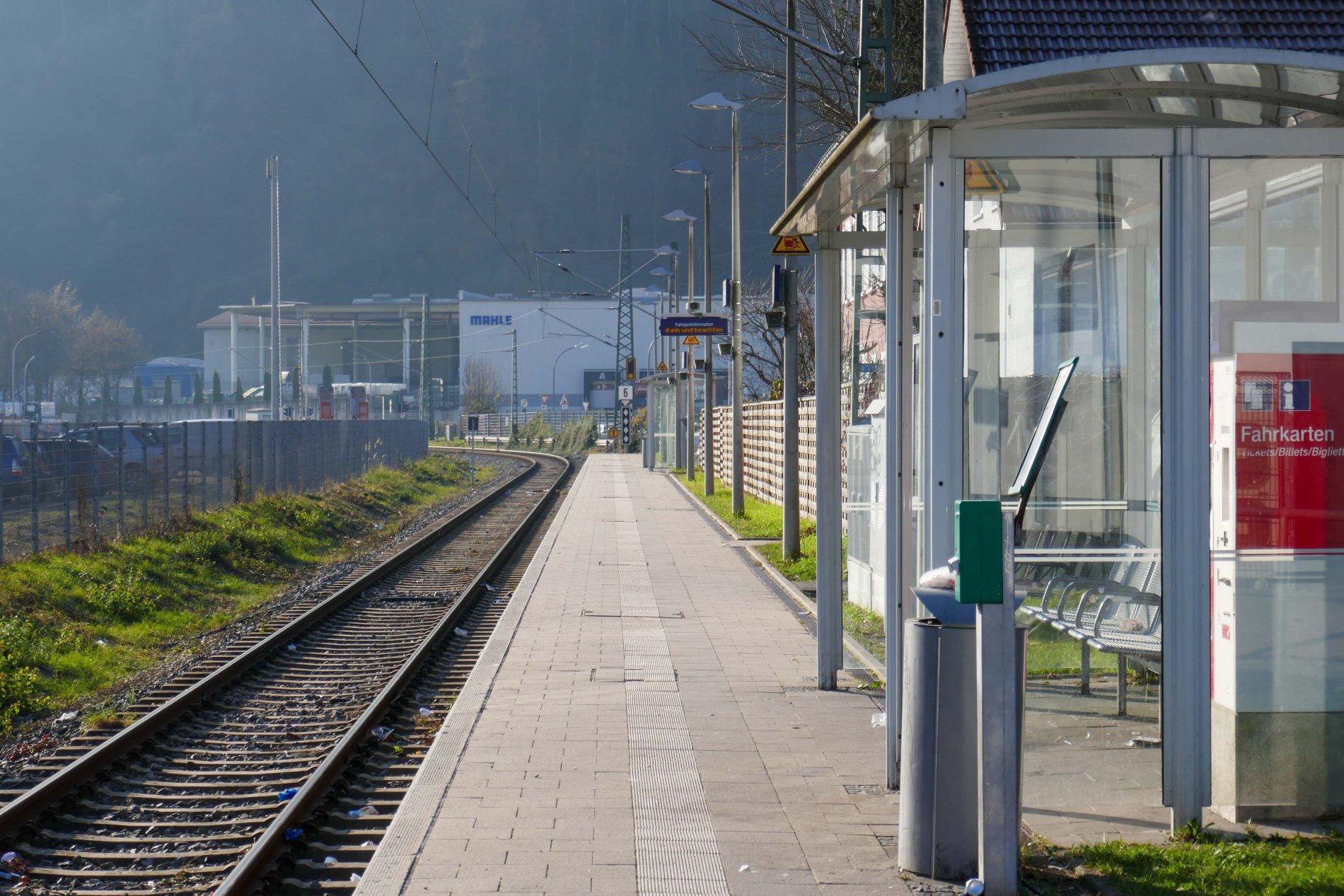 Der Bahnhof in Zell im Wiesental